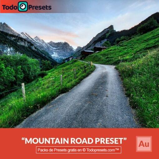 Carretera de montaña Preset Aurora HDR gratis