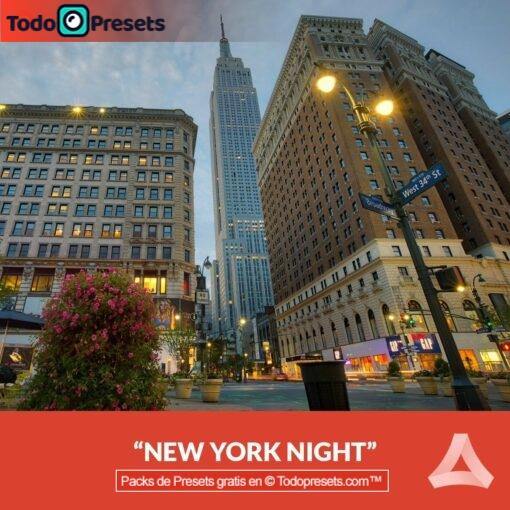 Noche de Nueva York Preset Aurora HDR gratis
