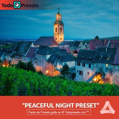 Noche pacífica Preset Aurora HDR gratis