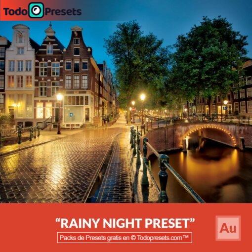 Noche lluviosa Preset Aurora HDR gratis