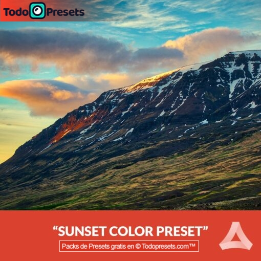 Color de puesta de sol Preset de Aurora HDR gratis