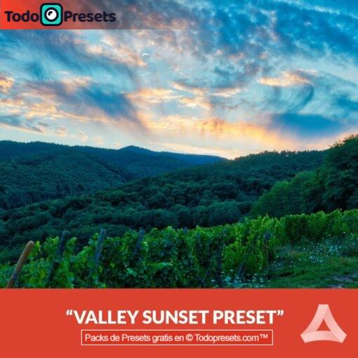 Aurora HDR Preset Valley Sunset gratis