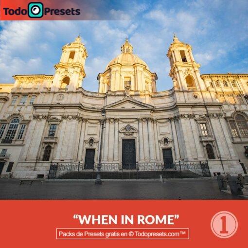 Capture One Preset cuando estés en Roma