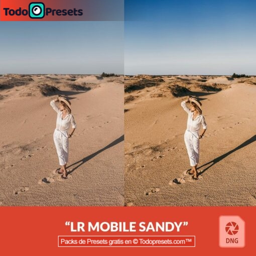 Preset de DNG gratis Sandy