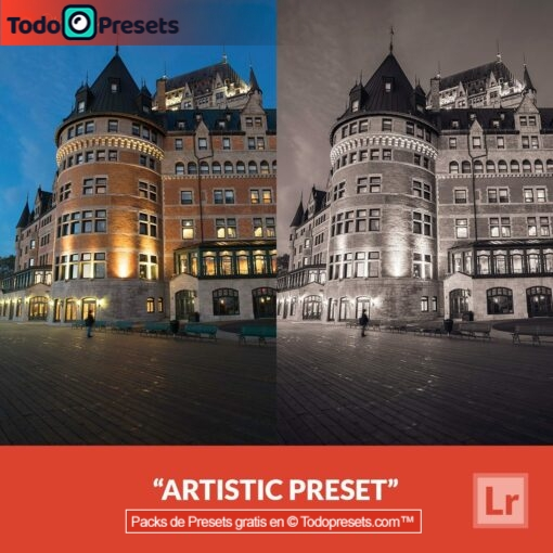 Artístico Preset de Lightroom gratis