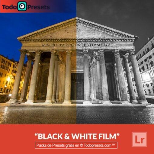 Película en blanco y negro predefinida de Lightroom gratis