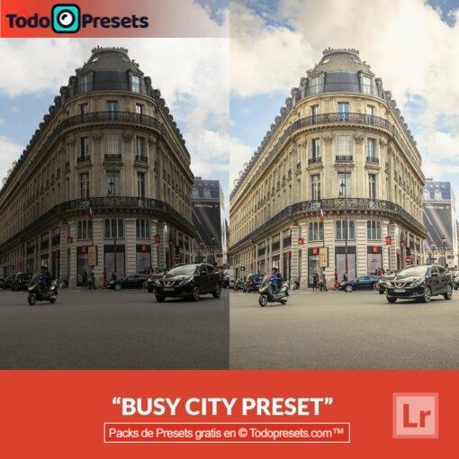 Ciudad ocupada predefinida de Lightroom gratis
