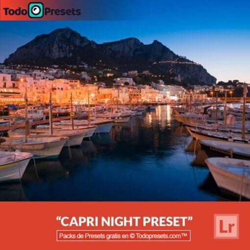 Noche Capri Preset de Lightroom gratis