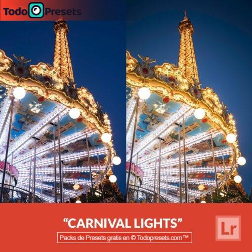 Luces de carnaval Presets de Lightroom gratis