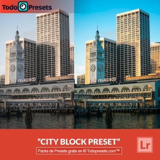 Bloque de ciudad Preset de Lightroom gratis