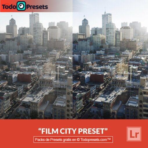 Ciudad de película predefinida de Lightroom gratis