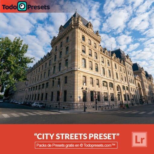 Calles de la ciudad de Lightroom gratis