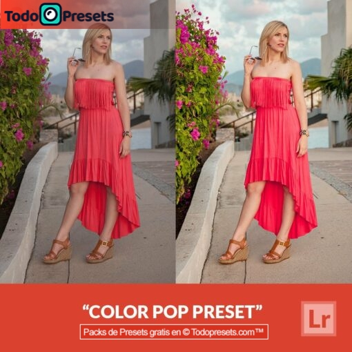 Pop de color Preset de Lightroom gratis