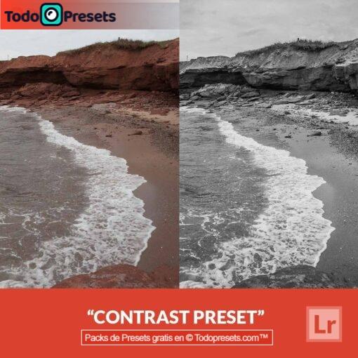Contraste Preset de Lightroom gratis