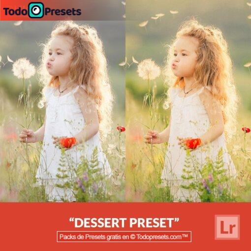 Postre Preset gratis de Lightroom