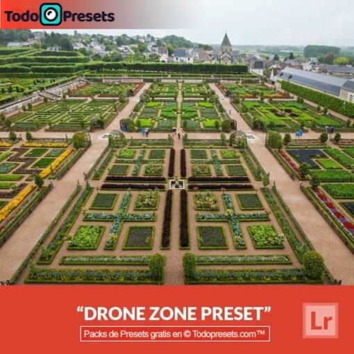 Zona de drones predefinida de Lightroom gratis