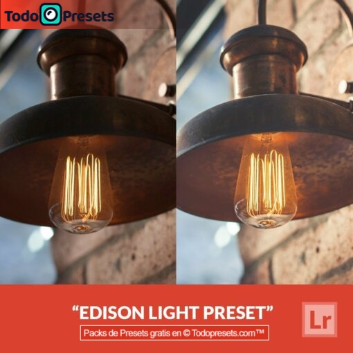 Lightroom Preset Edison Light gratis