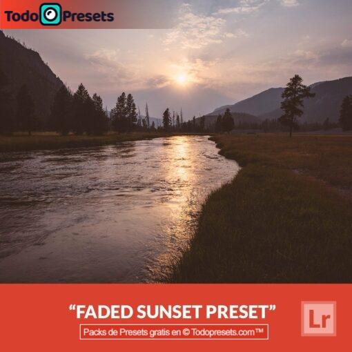 Puesta de sol desvanecida predefinida de Lightroom gratis