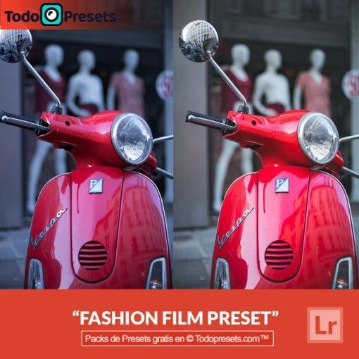 Película de moda Preset de Lightroom gratis