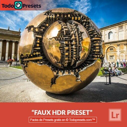 Faux HDR predefinido de Lightroom gratis