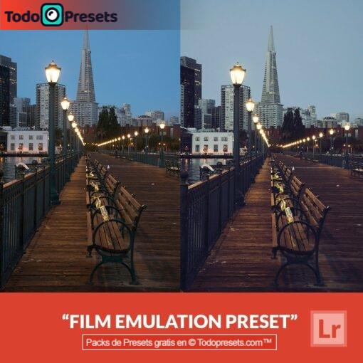 Emulación de película predeterminada de Lightroom gratis
