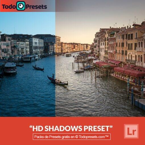 Sombras HD Preset de Lightroom gratis