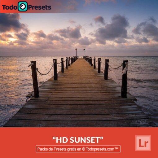Puesta de sol HD gratis con Lightroom Preset