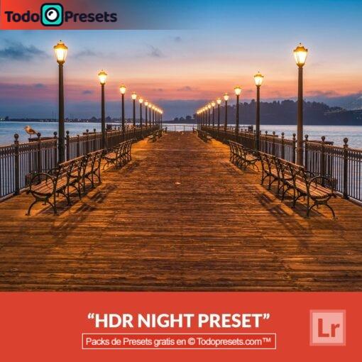 Noche HDR Preset de Lightroom gratis