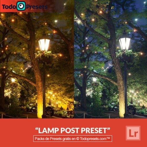 Poste de luz Preset de Lightroom gratis