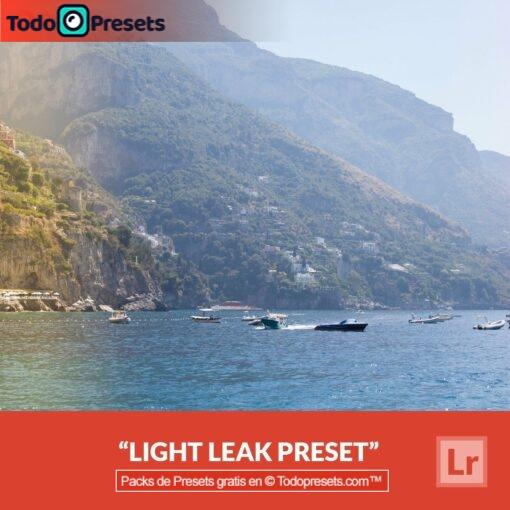 Presets de Lightroom gratis Fugas de luz