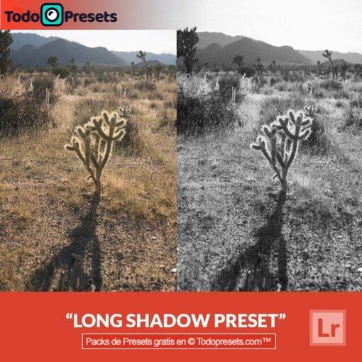 Sombra larga Preset de Lightroom gratis