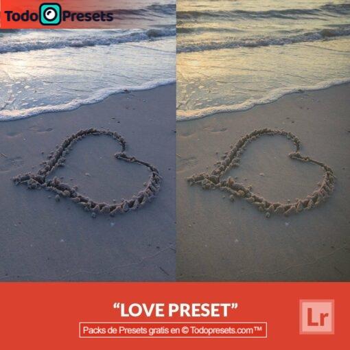 Amor Preset de Lightroom gratis