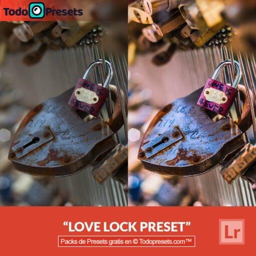 Bloqueo de amor Preset de Lightroom gratis