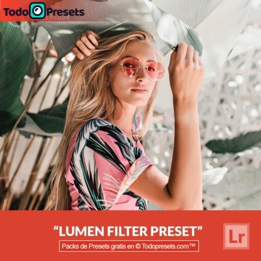 Filtro de lumen Preset de Lightroom gratis