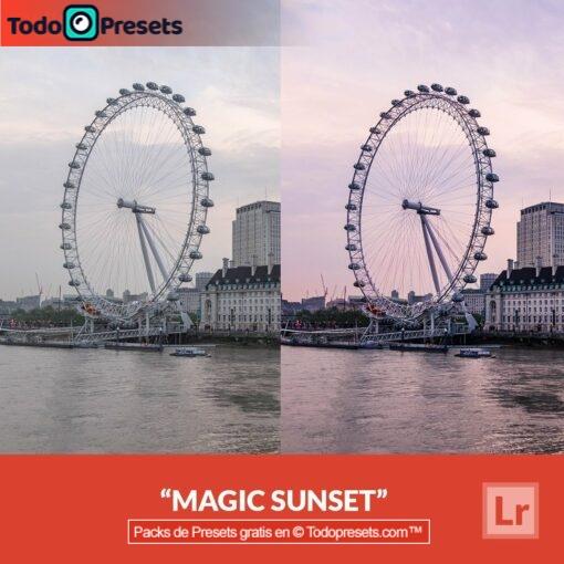 Puesta de sol mágica Preset de Lightroom gratis