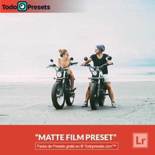 Película mate Preset de Lightroom gratis