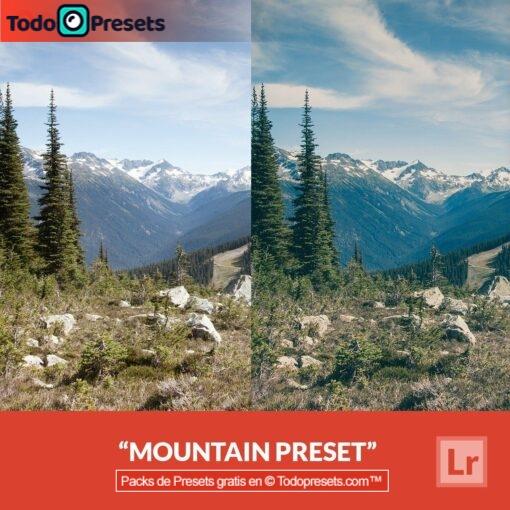 Montaña Preset de Lightroom gratis
