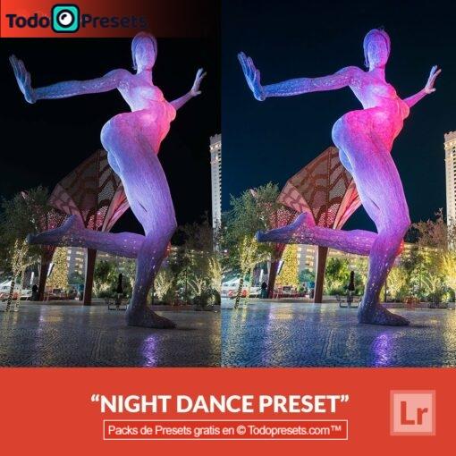 Baile nocturno Preset de Lightroom gratis