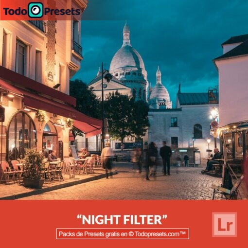 Filtro nocturno Preset de Lightroom gratis