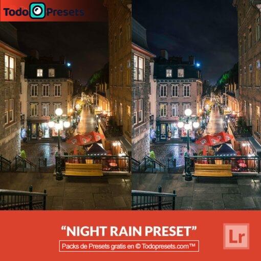 Lluvia nocturna Preset de Lightroom gratis
