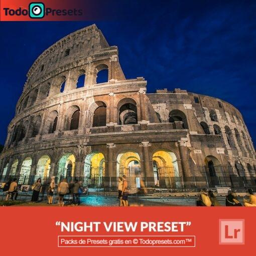 Vista nocturna Preset de Lightroom gratis