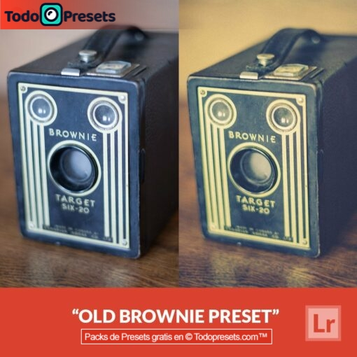 Brownie antiguo Preset de Lightroom gratis