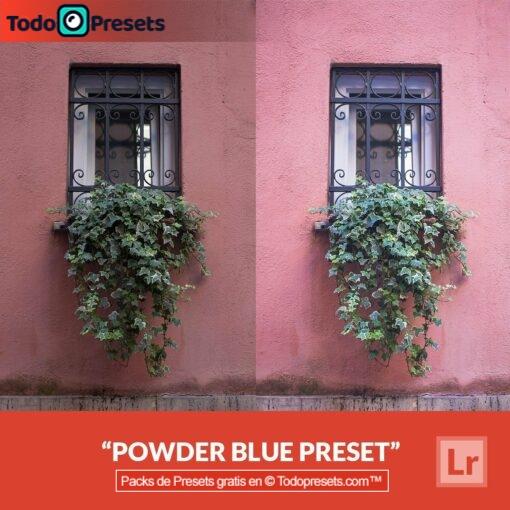 Preset de Lightroom gratis en azul claro