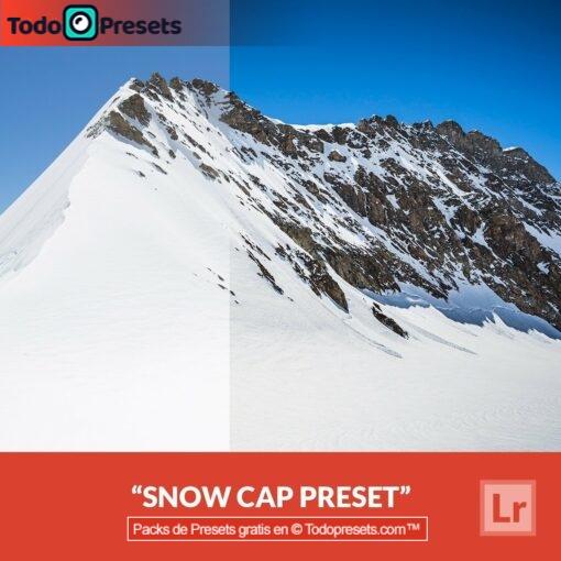 Tapa de nieve Preset de Lightroom gratis