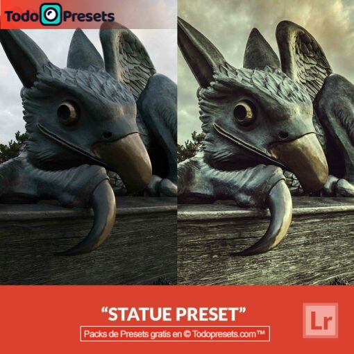 Estatua Preset de Lightroom gratis