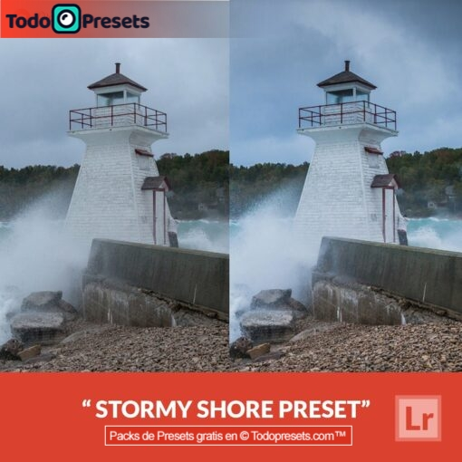Stormy Shore Preset de Lightroom gratis
