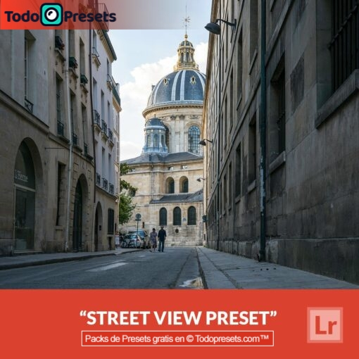Vista de calle Preset de Lightroom gratis