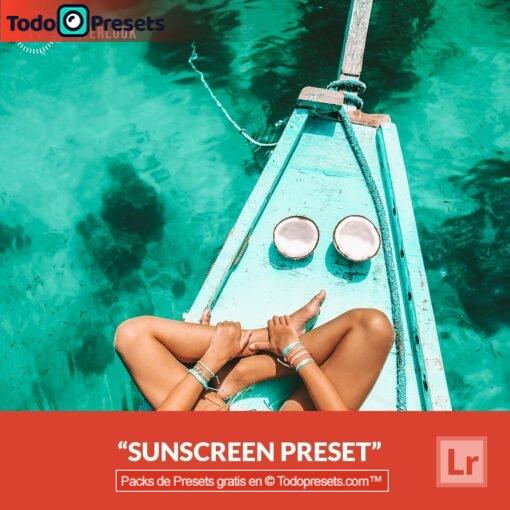 Protector solar Preset de Lightroom gratis