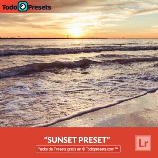 Puesta de sol Preset de Lightroom gratis