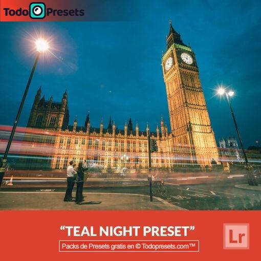 Noche verde azulada Preset de Lightroom gratis